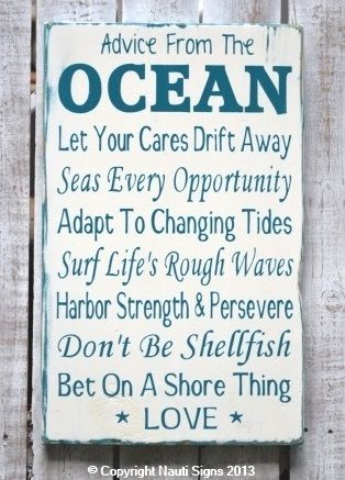 Rustic Beach Sign Ocean Poem Advice From The House Wedding