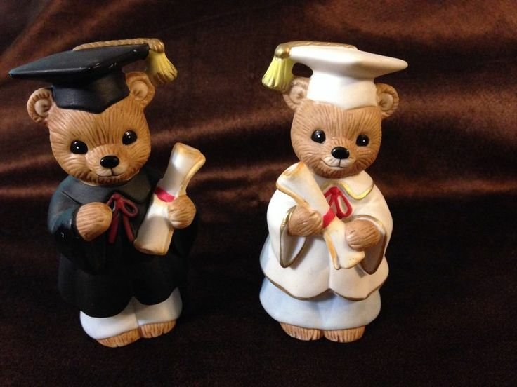 Home interiors graduation bear figurines