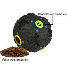 Interactive Pet Squeak ball dog leakage food ball Inspire IQ training toy Dental Chew Ball Eating slower and Eliminate boring(China (Mainland))