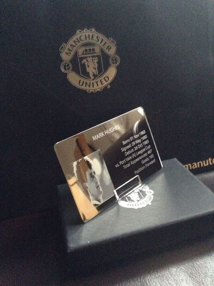 Mark Hughes Manchester United Gift Card Chrome Rare vs Spurs  | eBay