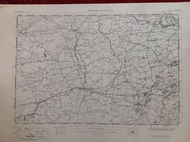 Ordnance Survey Map Millstreet Cork Ireland One Inch 1900 Version Cartography