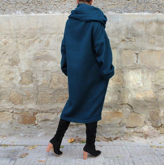Cowl Neck Dress / Petroleum Blue Dress / от cherryblossomsdress