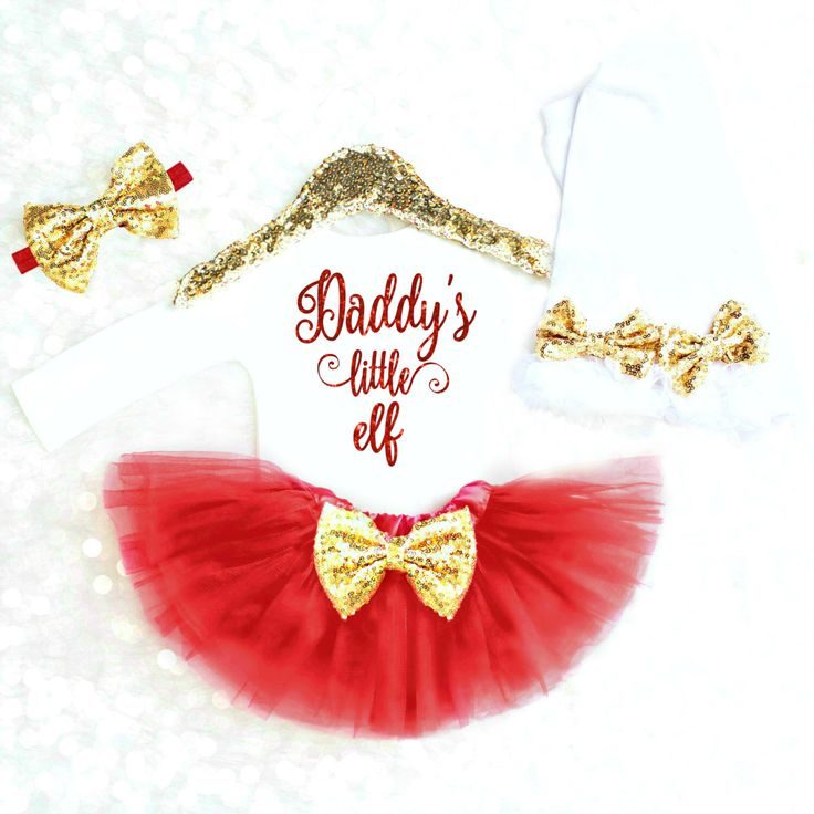 Baby Girl Christmas Outfit Christmas Dress Toddler Christmas Outfit Baby Girl Christmas Onesie Daddy's Little Elf Christmas Newborn Girl by KennedyClairesCloset on Etsy https://www.etsy.com/listing/481660069/baby-girl-christmas-outfit-christmas
