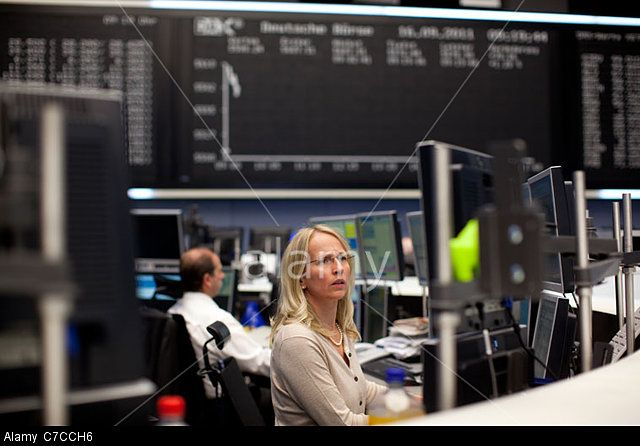 The Frankfurt Stock Exchange, Germany. © Jeff Gilbert / Alamy