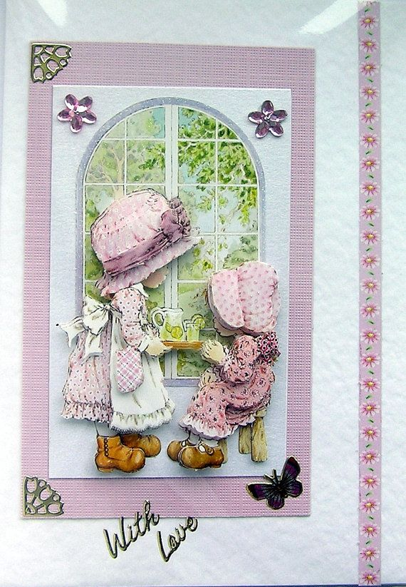 Afternoon Tea HandCrafted 3D Decoupage Card With by SunnyCrystals