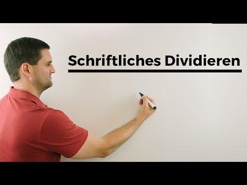 Schriftliches Dividieren, Nachhilfe online, Hilfe in Mathe, einfach erklärt | Mathe by Daniel Jung - YouTube