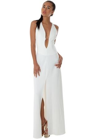 Rihanna style white dress