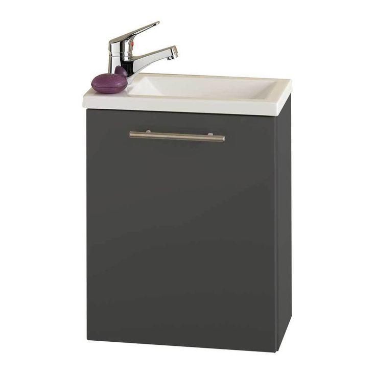 Nice G ste WC Waschtisch in Anthrazit cm breit Jetzt bestellen unter https moebel ladendirekt de bad badmoebel badmoebel sets uid udcf bbab c be