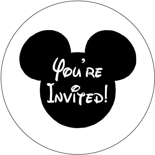 30 Mickey Mouse Birthday Party Invitation Stickers - You're Invited! #AListInvites
