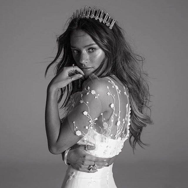 Rime Arodaky's latest campaign featuring crystal crowns by Crowns&Wreaths #rimearodaky017