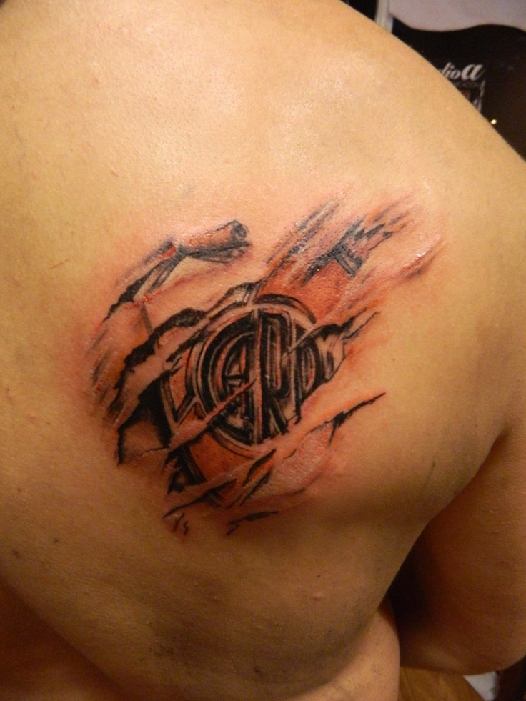 club atletico river plate tattoo by Facundo-Pereyra.deviantart.com on @deviantART