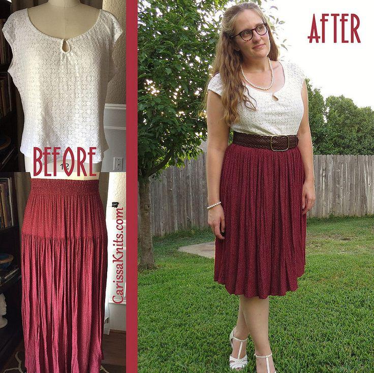 Vintage Inspired Dress Refashion by CarissaKnits