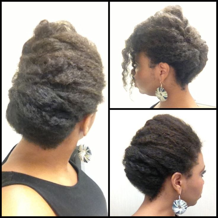 Twist Out Natural Hair Updo