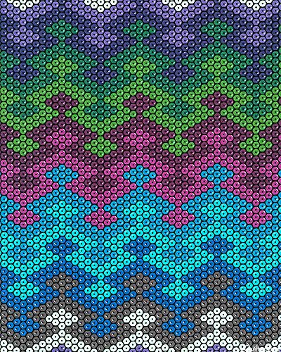 Beadwork Blanket chevron Teal