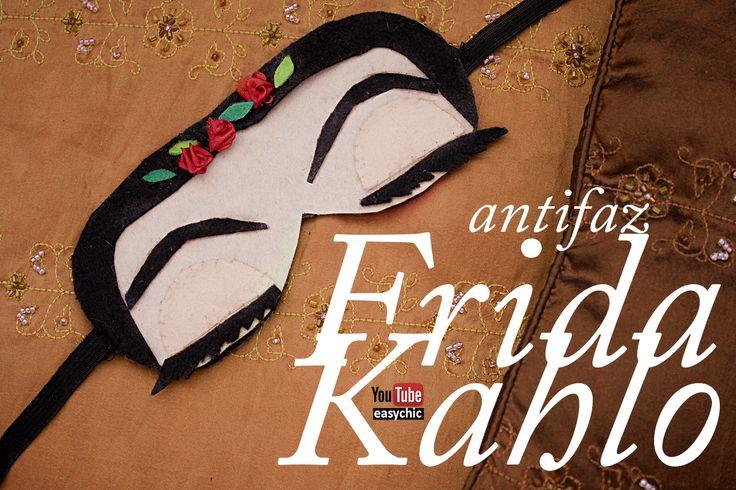 EasyChic: Como hacer antifaz para dormir inspirado en Frida Kahlo - manualidades merchandising Frida Kahlo - DIY - #fridakahlo