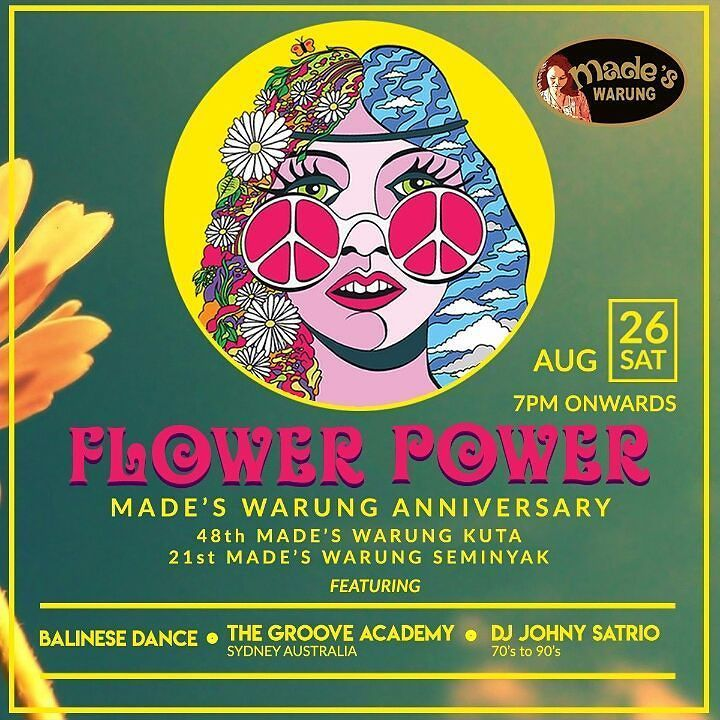 six more days to go.. FLOWER POWER an annual event of Made's Warung  #food #bali #holiday #birthday #traveling #wanderlust #globetrotter #travel #travelblogger #flatlays #flatlay #flatlayoftheday #lunch #yummy #acolorstory #foodlover #tumblr #foodforfoodie #style #foodie #foodblogger #madeswarung #samsunglife #like4like #likeforlike #l4l #thebalibible #tagforlikes #followforfollow