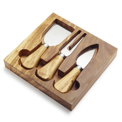 Olivewood Cheese Knife Set, available at #surlatable