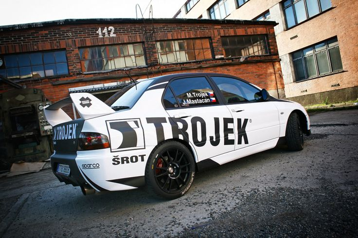 Trojek Racing - M. Trojek - J. Mastacan (Mitusbishi Lancer Evo IX) - design and wrap for season 2012.