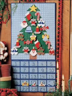 Plastic Canvas - Advent Calendar