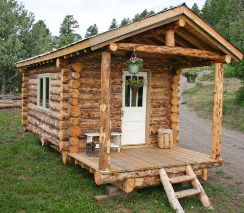 log cabin on wheels tiny homes on wheels pinterest. Black Bedroom Furniture Sets. Home Design Ideas