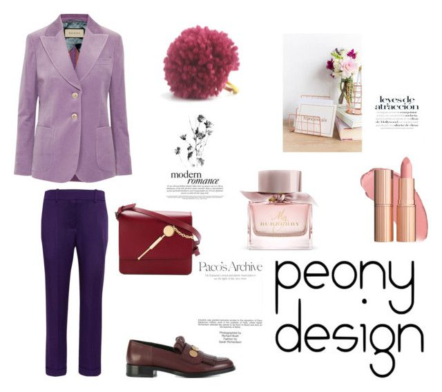 """""""Peony Design"""" by teri-peony ❤ liked on Polyvore featuring Gucci, Haider Ackermann, Sophie Hulme, Pierre Hardy, Burberry, Eccolo and Industrie"""