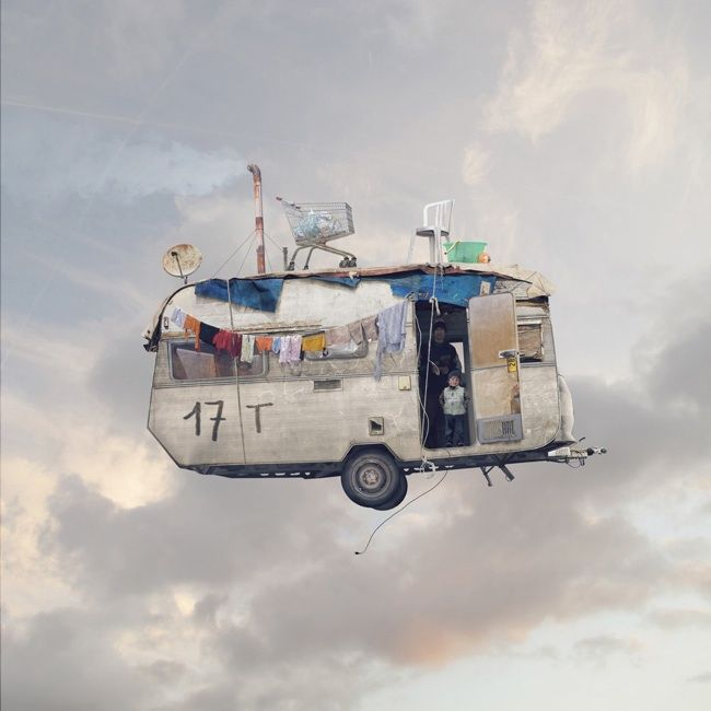Photography Project: Flying Houses by Laurent Chehere