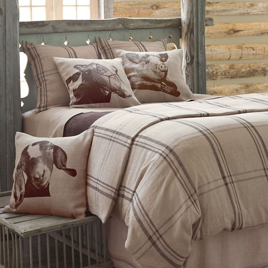Farmhouse Linen Java/Natural Duvet Cover <br /> $252.00 <hr />Country chic! Say,