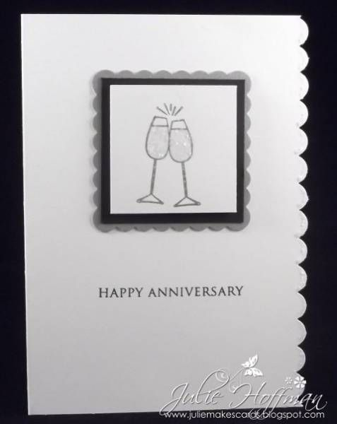 CAS Anniversary Card Cheers by CMU1999 - Cards and Paper Crafts at Splitcoaststampers
