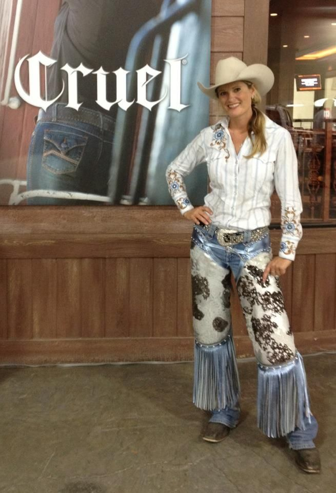 Cowgirls Kenda Lenseigne Low Rise Chinks Sierra Custom