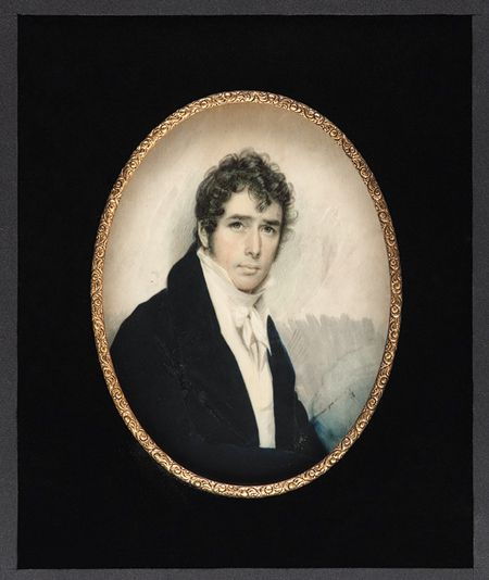 Self-Portrait, ca. 1810 (miniature) Joseph Wood (American, 1778–1830)