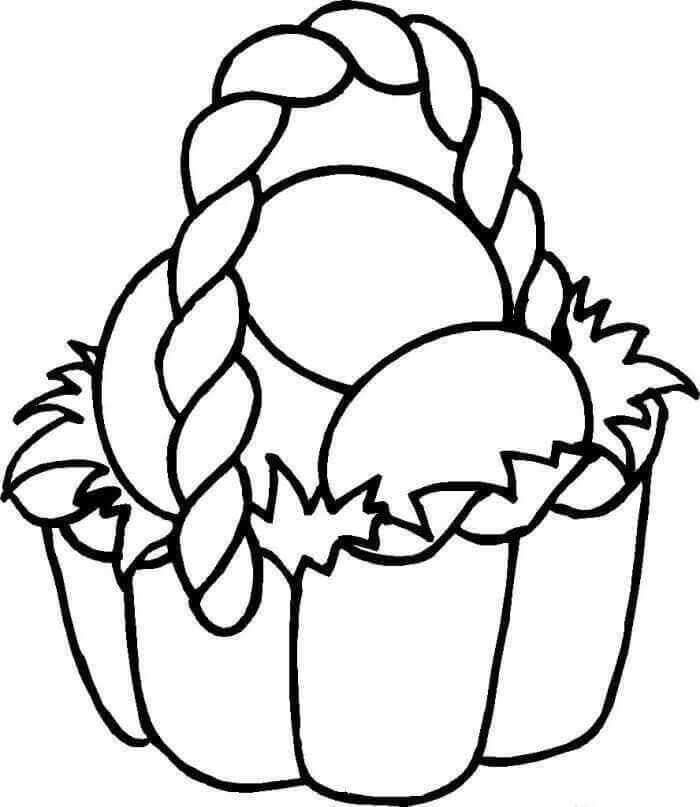Easy Easter Basket Colouring Page Kids Printable Coloring Pages Easter Coloring Pages Easter Coloring Sheets