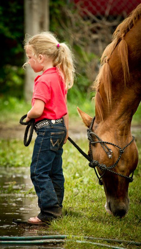 A girl and her horse, forever friends.
