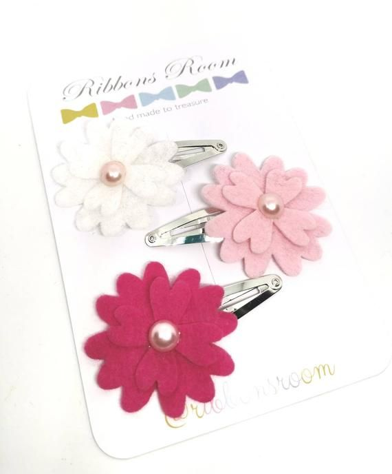 baby girls toddler hair clips snap clips slides bendies flower lilac butterfly