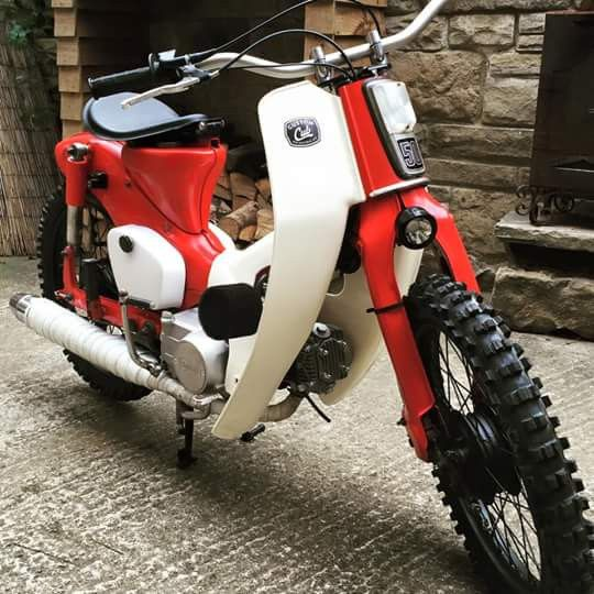 Custom Honda c90 Cub with handlebar conversion kit and spot light