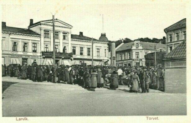 Vestfold fylke Larvik Torvet 1920/30-tallet