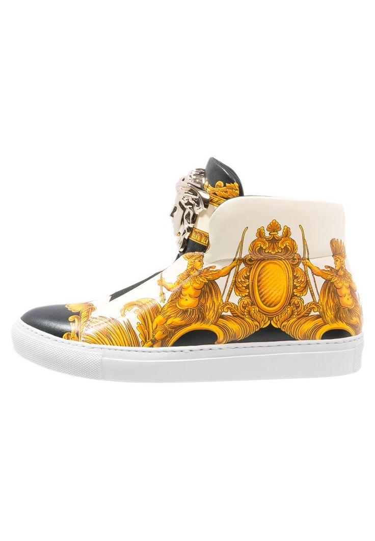 Versace PALAZZO Ankle boot nero/multicolor 2,591.20zł materiał zewnętrzny: skóra cielęca, materiał wewnętrzny: skóra, podeszwa: tworzywo sztuczne, wyściółka: skóra #moda #fashion #kobieta #women #versace #palazzo #ankle #boot #nero #multicolor #damskie #nadruk #biały #white