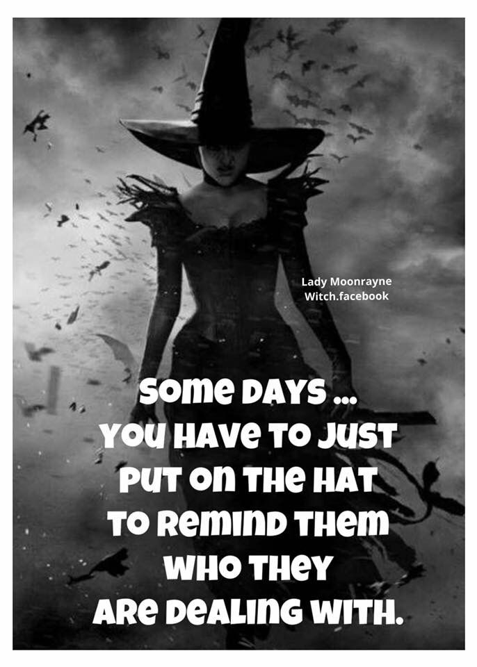 Sometimes you just have to put on the hat to remind them who you are dealing with. #quote