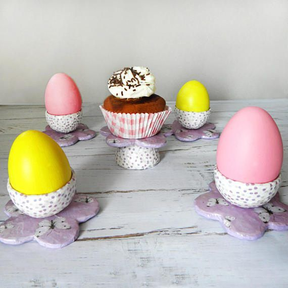 Easter Egg Holder Easter Egg Stand Paper by EfthimiaPapierMache