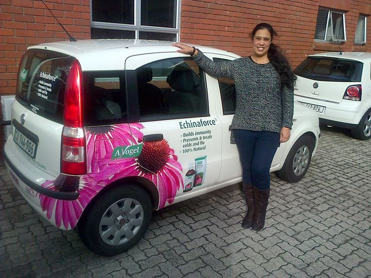 Galima loves her newly branded car!