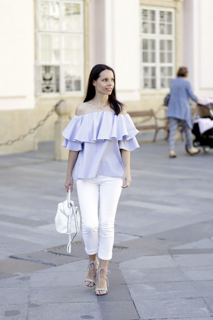 Blue & White Summer Outfit - Tina Chic