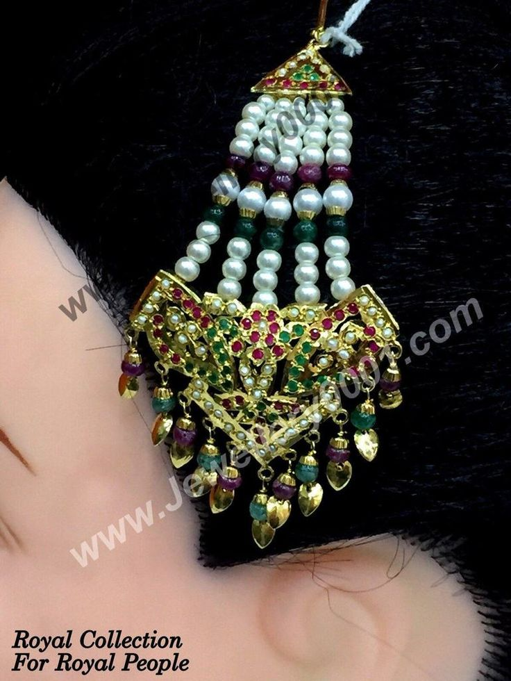 Jadau Beads Red Green Jhumar Pasa Passa with Pipalpati for Women in Gold Platted High Quality Jewelry Online just @ Rs 1100/- only. Shop it now
