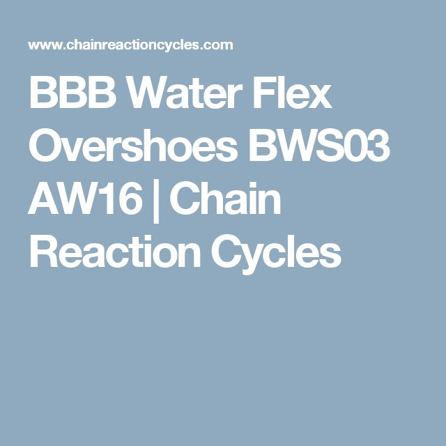 BBB Water Flex Overshoes BWS03 AW16 | Chain Reaction Cycles
