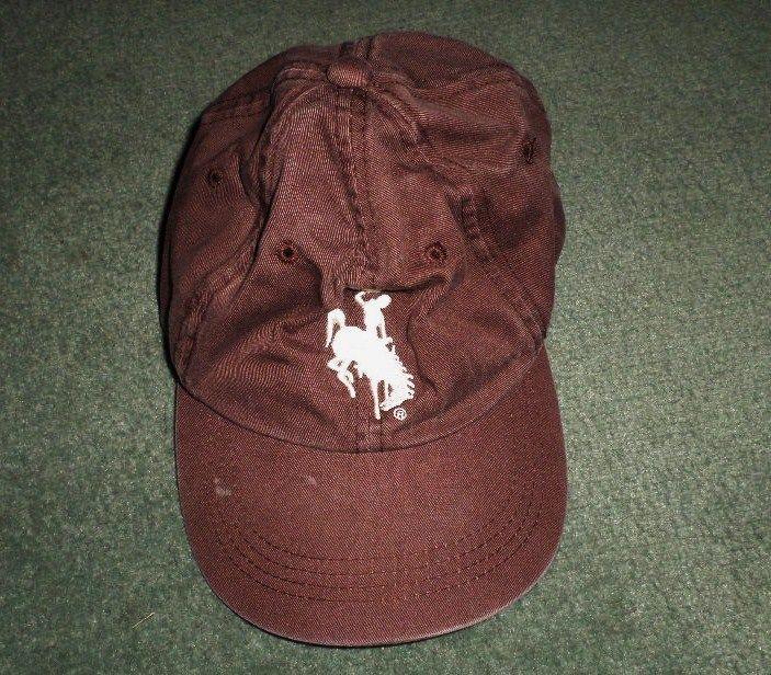 Men's Brown & Silver WYOMING COWBOYS POKES NCAA Logo Hat, Adjustable Strap, GUC #NCAAMerchandisebySignatures #UniversityofWyomingCowboysPokes1886