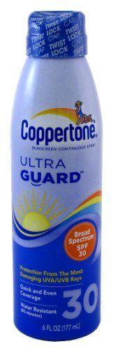 Coppertone Continuous SPF#30 Spray Ultra Guard 6 oz (Case of 6) by Coppertone. $45.00
