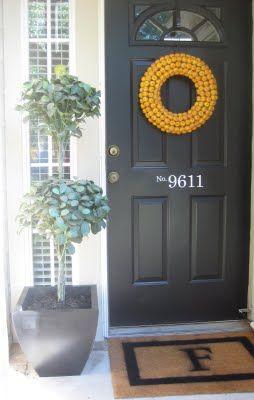DIY Monogrammed Door Mat ~ Our Suburban Cottage