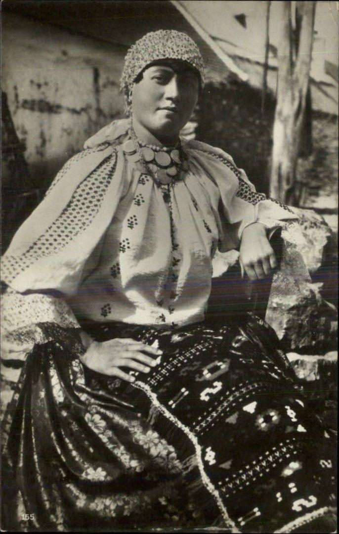 Magyaroszag Hungary Woman w Elaborate Ethnic Costume c1910 Postcard   eBay