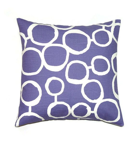 Purple Pillow 18x18 Pillow Cover Decorative Pillows Throw