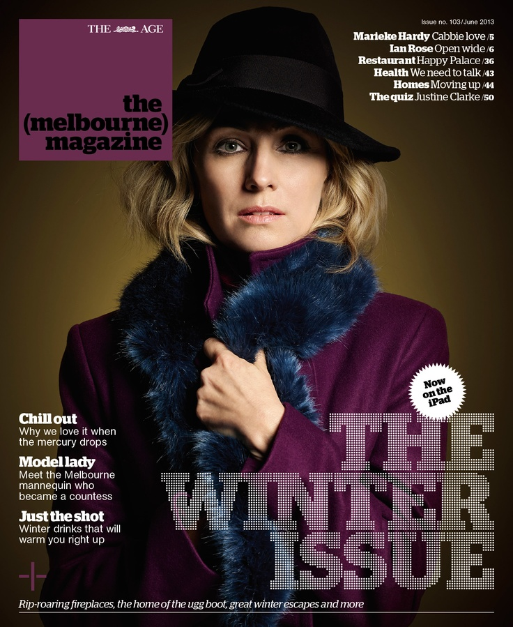 Actress Lisa McCune on the cover of our June issue, which celebrates all things wintery in Melbourne.