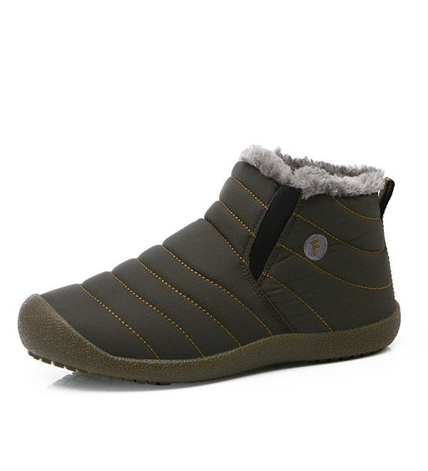 Mens Anti-Slip Snow Boots With Fully