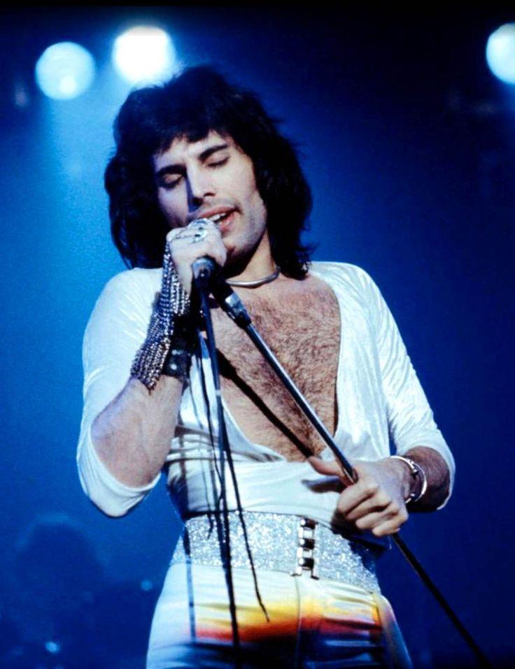 Freddie Mercury, 1975, by Fin Costello